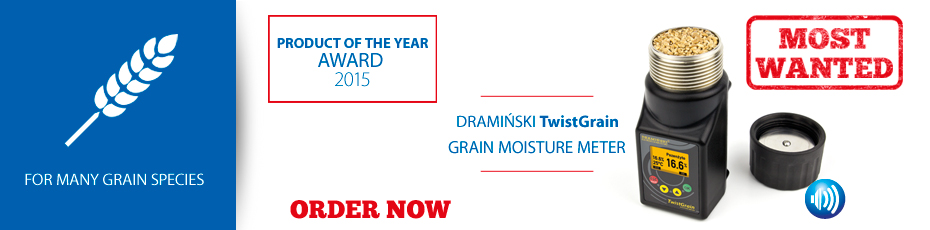 DRAMINSKI TwistGrain - ergonomically designed moisture meter that guarantees accurate measurements. Check out!