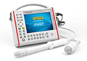 Handheld and extremely robust ultrasound scanner designed for all doctors on. For a rapid scanning of the abdominal and pelvic organs.