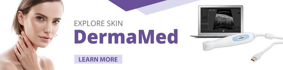 DermaMed Ultrasound scanner for dermatologists and aesthetic medicine doctors
