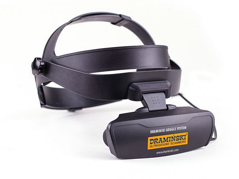 portable ultrasound scanner with goggles, light goggles, comfortable ultrasound glasses, ultrasound goggles, LCD goggle