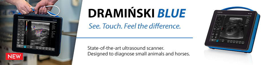 DRAMIŃSKI BLUE is a veterinary diagnostic ultrasound scanner that provides surprisingly detailed images.