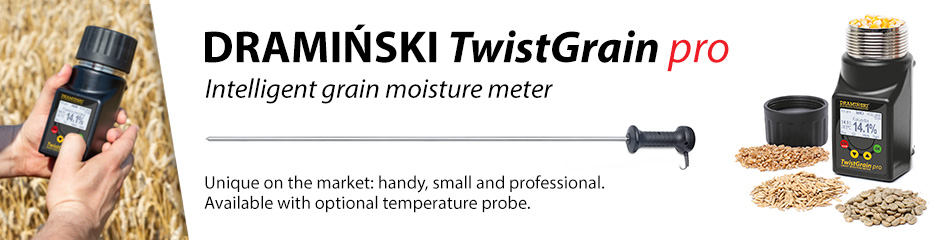 TG pro moisture meter for cereals, maize, grass seeds, oilseeds, and legumes seeds.