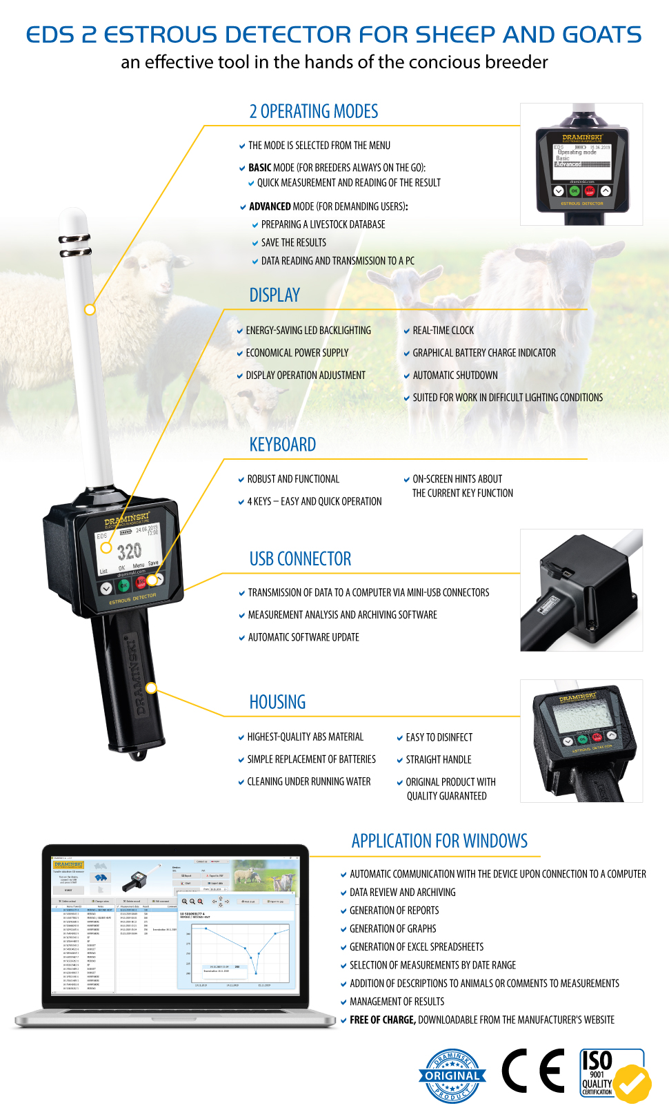 oestrus detector for sheep and goats optimal insemination time